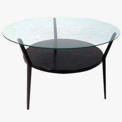 Tavolino da caffè rotondo di Friso Kramer, anni '60