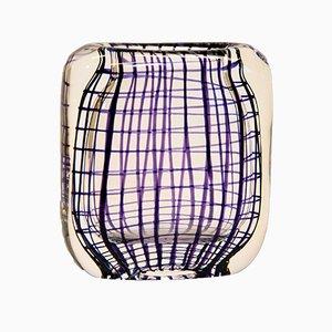 Norwegische Mid-Century Glas Vase von Hermann Bongaard für Hadeland Glassverk