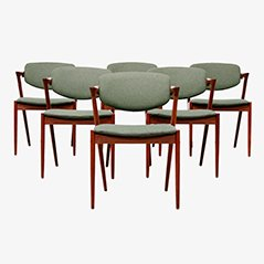 Model 42 Dining Chairs by Kai Kristiansen, 1950s, Set of 6
