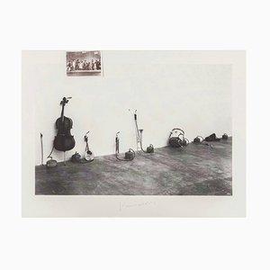 Jannis Kounellis: Ohne Titel, Serigraphie in S / W auf Karton