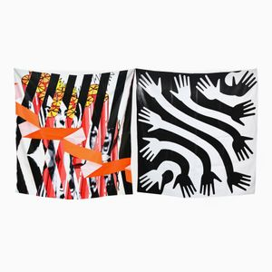 Burning Down The House & Clap Set of 2 Scarves by Briggs & Cole