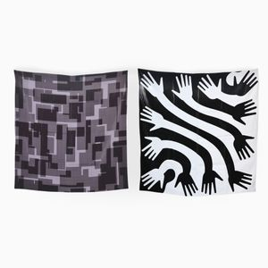 Sextet & Clap Set of 2 Scarves by Briggs & Cole