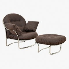Lounge Chair and Ottoman Set by Carlo Di Carli for Cinova