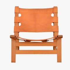 Vintage Leather Easy Chair by Borge Mogensen for Frederica Stolefabrik