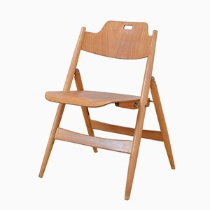 Vintage SE18 Folding Chair by Egon Eiermann for Wilde & Spieth