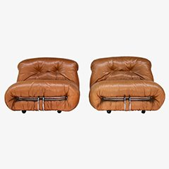 Soriana Club Chairs by Tobia Scarpa for Cassina, Set of 2