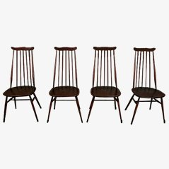 High Back Chairs by Ercol Goldsmith, Set of 4