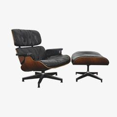 Lounge and Ottoman by Charles & Ray Eames for Herman Miller
