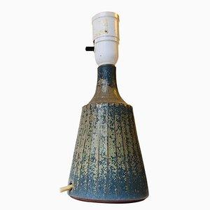 Skandinavische Tischlampe aus Keramik in Crystalline Glazes von Rolf Palm, 1960er