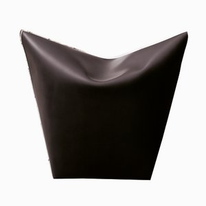 Dark Brown Leather Mao Beanbag Chair by Viola Tonucci for Tonucci Manifestodesign