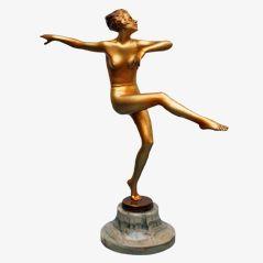 Art Deco Bronze Statue by Josef Lorenzl, ca. 1930