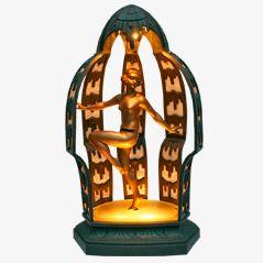 Temple Dancer Art Deco Lamp by Limousin, 1920s
