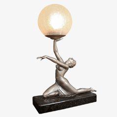 Art Deco Figure Lamp, ca. 1930
