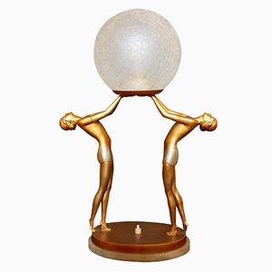 Lampe Figurine Art Déco, Allemagne, 1930s