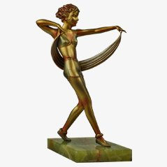 Art Deco Spelter Figure by Josef Lorenzl, 1930s