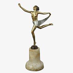 Statue Art Déco en Bronze par Josef Lorenzl, 1930s