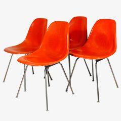 DSX Stühle von Charles & Ray Eames für Herman Miller, 4er Set