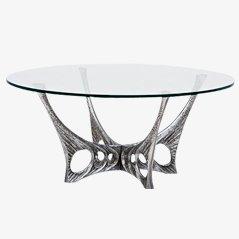 Tavolino da caffè in vetro di Willy Ceysens