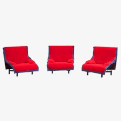 Sindbad Lounge Chairs by Vico Magistretti for Cassina, Set of 3