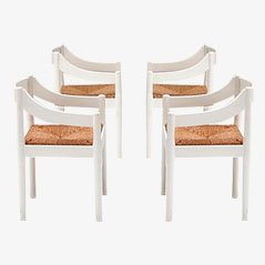 Chairs by Vico Magistretti for Cassina Carimate, 1970s, Set of 4