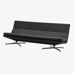Charcoal Grey Sofa by Georges Van Rijck for Beaufort, 1970s