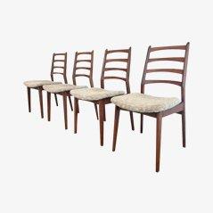 Skandinavische Esszimmerstühle, 1960er, 4er Set