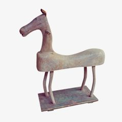 Antique Hand Carved Children's Toy Horse