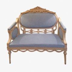 Sofá sueco antiguo, década de 1840