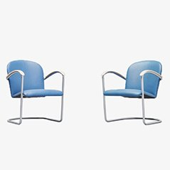 414 Arm Chairs by WH Gispen for TH Delft, 1961, Set of 2
