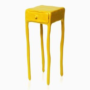 Tavolo in argilla con cassetto di Maarten Baas