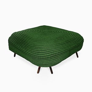 Pouf quadrato Corocora verde di Ceci Arango