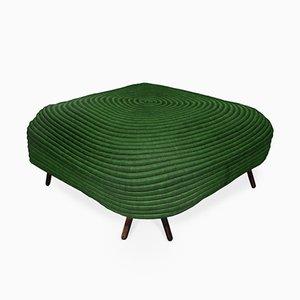 Puf Corocora cuadrado en verde de Ceci Arango