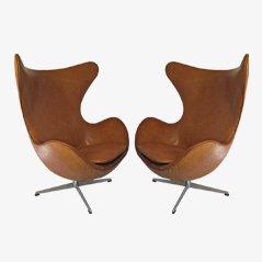 Egg Chairs von Arne Jacobsen für Fritz Hansen, 1963, 2er Set