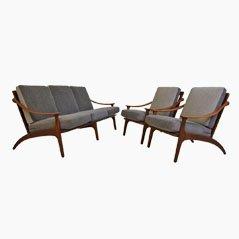 Juego de sofá y sillas de Arne Hovmand-Olsen para P. Mikkelsen