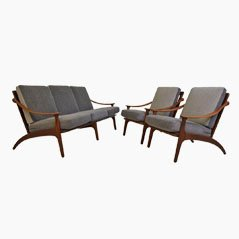 Sofa and Chairs Set by Arne Hovmand-Olsen for P. Mikkelsen
