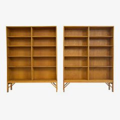 Mid Century Bookcases by Børge Mogensen for FDB, 1954, Set of 2