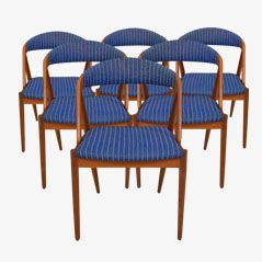 Mid Century Dining Chairs by Kai Kristiansen for Andersen Møbelfabrik, 1950s, Set of 6