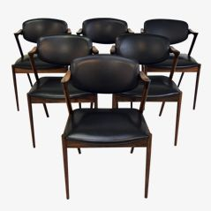 Dining Chairs by Kai Kristiansen for Schou Andersen Møbelfabrik, 1950s, Set of 6