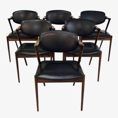 Dining Chairs by Kai Kristiansen for Schou Andersen Møbelfabrik, 1950s, Set of 6