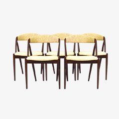 Vintage Rosewood Dining Chairs by Kai Kristiansen for Andersen Møbelfabrik, Set of 5