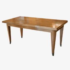 Art Deco Sycamore Dining Table, 1930s