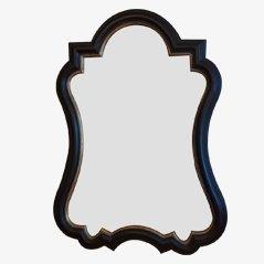 Espejo negro vintage, 1960