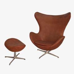 Egg Chair von Arne Jacobsen für Fritz Hansen, 1967, 2er Set