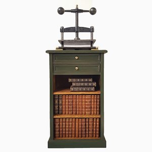 Antique Book Press and Bookcase, 1900s