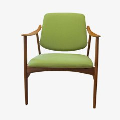 Norwegian Green Armchair by Fredrik Kayser