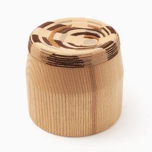 CAD Weaving Jar #1 aus Esche von Dafi Reis Doron