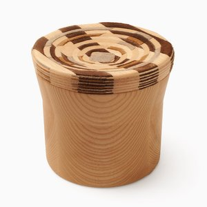 CAD Weaving Jar #2 aus Esche von Dafi Reis Doron