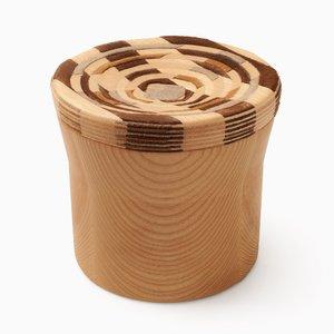 CAD Weaving Jar #2 en Frêne par Dafi Reis Doron