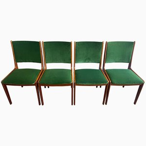Danish Teak Dining Chairs by Johannes Andersen, 1960s, Set of 4