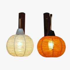 Vintage Spherical Wall Lamps, Set of 2